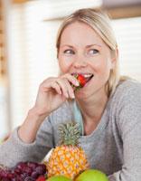 reuk-smaak-vrouw-fruit